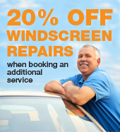 20% OFF WINDSCREEN REPAIRS